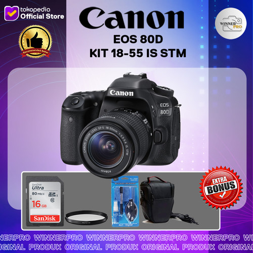 Foto Produk KAMERA CANON EOS 80D KIT 18-55 IS STM / KAMERA CANON 80D/ EOS 80D/ 80D dari Winner Pro