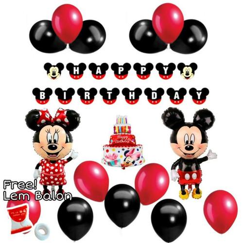 Foto Produk Paket Dekorasi Balon Ulang Tahun / Happy Birthday Mickey Mouse 02 dari Reaw Store
