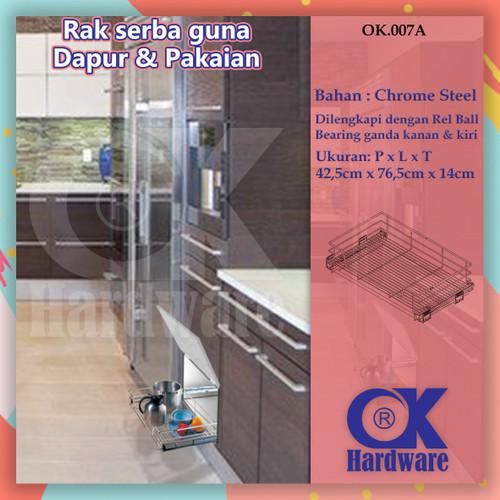 Foto Produk Rak Tarik Serbaguna OK 007 A untuk Kitchen Set Dapur & Lemari Pakaian dari WINSTON SUKSES ABADI