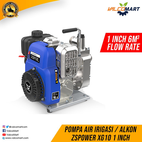 Foto Produk Pompa Air Benin Alkon ZSPower XG10 Head 10M 1inch Gasoline Waterpump dari Valco