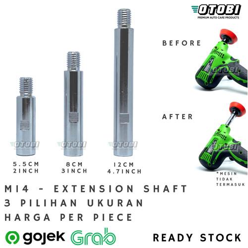 Foto Produk M14 Extension Shaft u/ Mesin Poles Rotary Adaptor Adapter Pemanjang dari Otobi