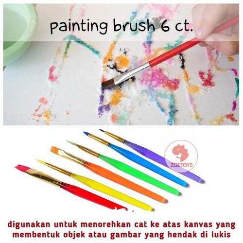 Foto Produk Zoetoys Painting Brush 6 ct | mainan edukasi | mainan anak | edutoys dari zoetoys