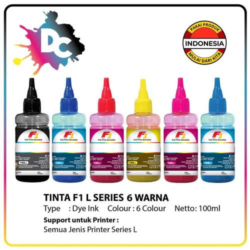 Foto Produk Tinta Printer F1 Ink Epson L800 1 Set (CMYK,PC,PM) 100ml 6 Warna HEMAT dari Dunia Cetak