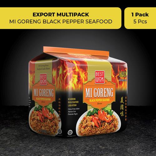 Foto Produk Best Wok Mi Goreng Blackpepper Seafood 5 pcs (Export Multipack) dari BURUNG DARA OFFICIAL