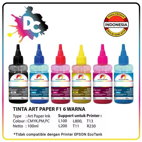 Foto Produk Tinta F1 Art Paper Refill / Isi Ulang / Infus Epson 100ml - Hitam dari Dunia Cetak