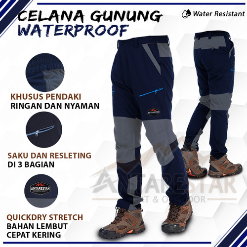 Foto Produk Celana Panjang Outdoor Hiking Adventure QuickDry - ANTARESTAR - M, Waterproof dari Antares Star