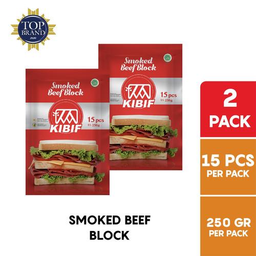 Foto Produk KIBIF Smoked Beef Block / Daging Sapi Asap 15 Pcs 250 Gr Multipack dari KIBIF Official Store