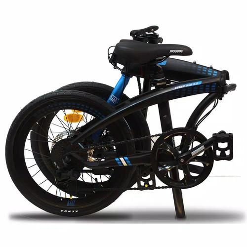 """Foto Produk GOJEK GRAB INSTANT Sepeda Lipat Maximo Piegare Cyclo BX8 3.0 20"""" Alloy - Hitam dari sepeda viral"""