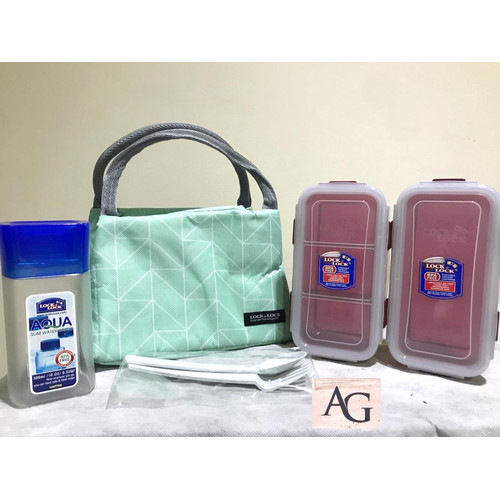 Foto Produk Lock n lock lunch box set with bag ORIGINAL dari Fragrace