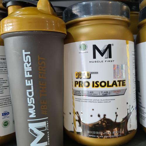 Foto Produk Muscle First Gold Pro Isolate Whey Isolate 27g protein Free Shaker dari Muscle Anabolic