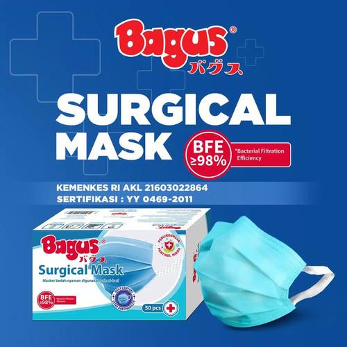 Foto Produk Bagus Surgical Mask 3 Ply 1 Box / Masker Medis 3 Ply dari SQIN Beauty