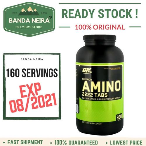 Foto Produk ON Optimum Nutrition Superior Amino 2222 Tabs dari Banda Neira Store