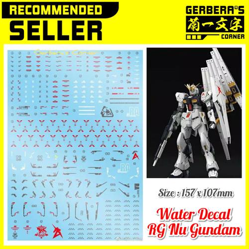 Foto Produk Water Decal RG Nu Gundam Decal dari Gerbera's Corner