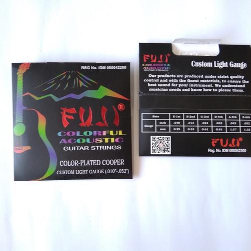 Foto Produk Fuji colorful acoustic - Senar gitar Akustik Set original dari GoBuyStore
