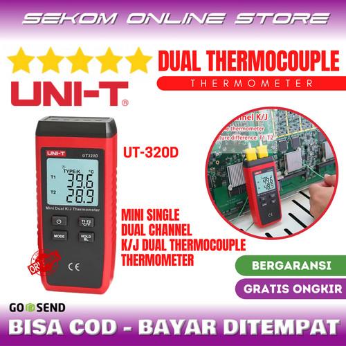Foto Produk UNI-T Mini Contact Thermometer Dual Channel K/J Thermocouple UT320D dari SEKOM ONLINE STORE
