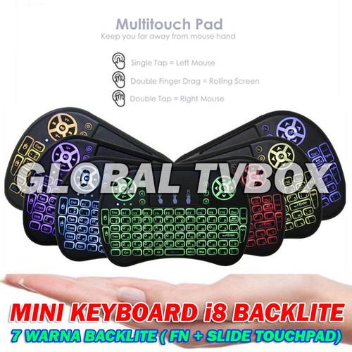 Foto Produk Mini keyboard wireless 2.4Ghz keyboard for PC androidtvbox touchpad dari Global Tvbox