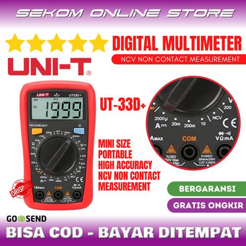 Foto Produk UNI-T Mini Digital Multimeter Multitester 600V NCV Palm Size UT33D+ dari SEKOM ONLINE STORE