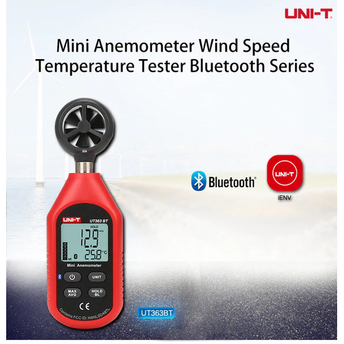 Foto Produk UNI-T Mini Digital Bluetooth Anemometer Wind Speed Meter UT363 UT363BT dari SEKOM ONLINE STORE