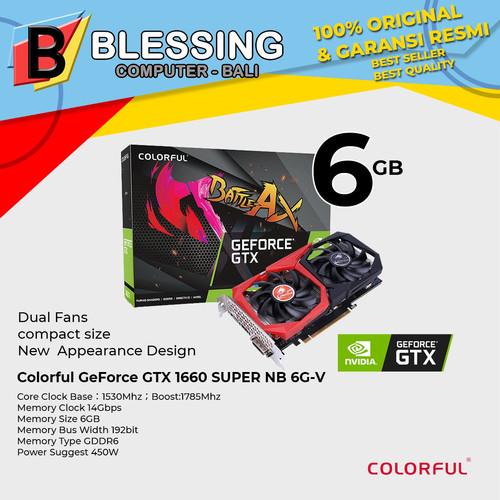 Foto Produk VGA GTX 1660 SUPER NB 6G V DDR6/ VGA 1660 SUPER COLORFUL / VGA GTX1660 dari Blessing Computer Bali