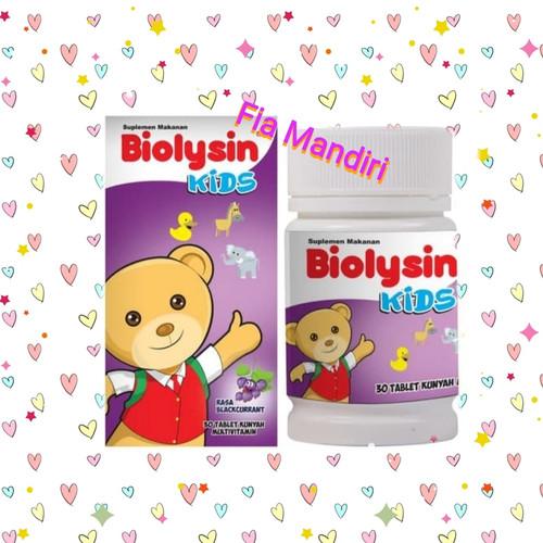 Foto Produk BIOLYSIN KID'S isi @30 Tablet Hisap u/ anak². Ada 3 Varian Rasa. - Blackurent dari Fia mandiri