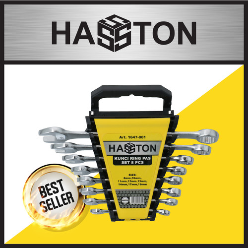 Foto Produk HASSTON PROHEX 8-19TL Kunci Ring Pass Set 8pcs 1647-001 dari Hasston Prohex