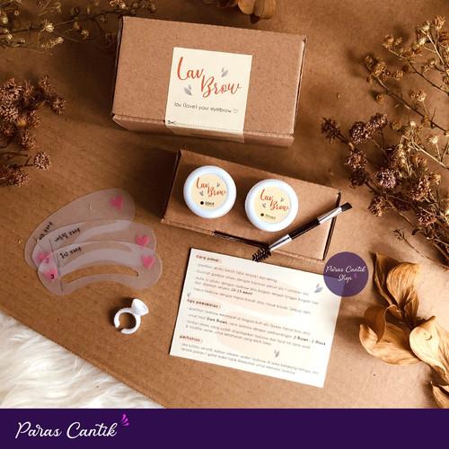 Foto Produk PAKET HENNA ALIS TAHAN LAMA 2-5 HARI HALAL - LAVBROW - P. Black+Brown dari Paras Cantik Shop