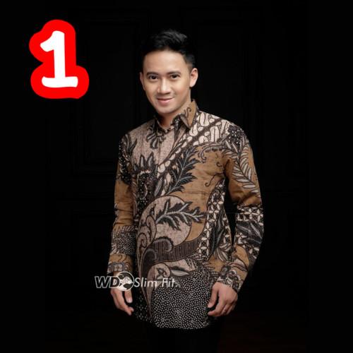 Foto Produk Kemeja Batik Pria Murah Lengan Panjang / Baju Batik Pria / Kemeja Pria - A - Y, M dari Grosir Koko Dan Batik