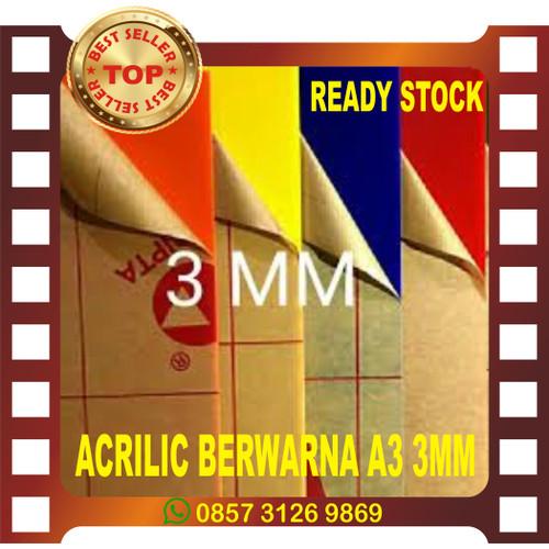 Foto Produk ACRYLIC LEMBARAN BERWARNA A3 3MM - Hitam dari hongxin adv cs3