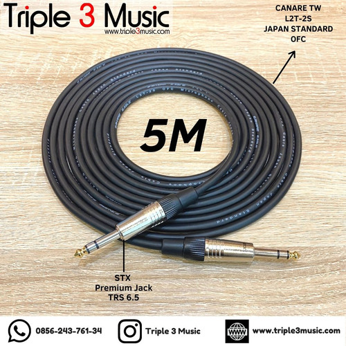 Foto Produk Kabel Canare Japan Standard TW TRS 6.5 mm To TRS 6.5mm 2m Akai - 5 meter dari triple3music