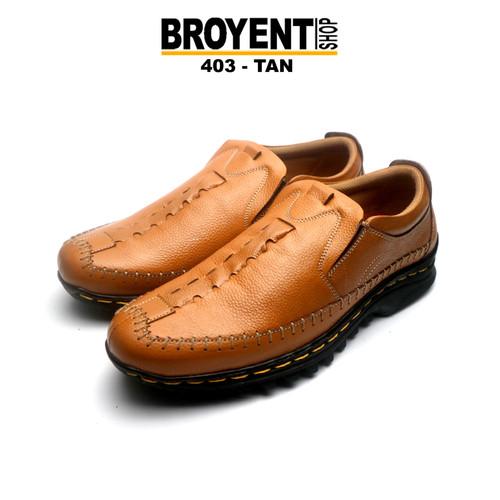 Foto Produk Sepatu Casual Pria Slip-on Kulit Asli 403 - Orange, 39 dari Broyent-shop
