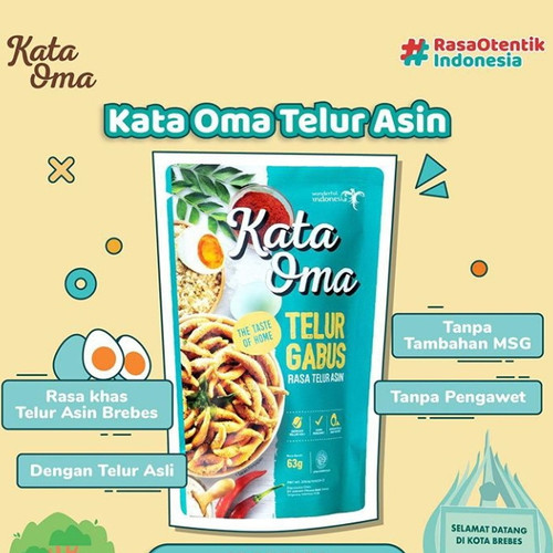 Foto Produk Kata Oma Telur Gabus Rasa Telur Asin - 63gr dari Indonesia Mall