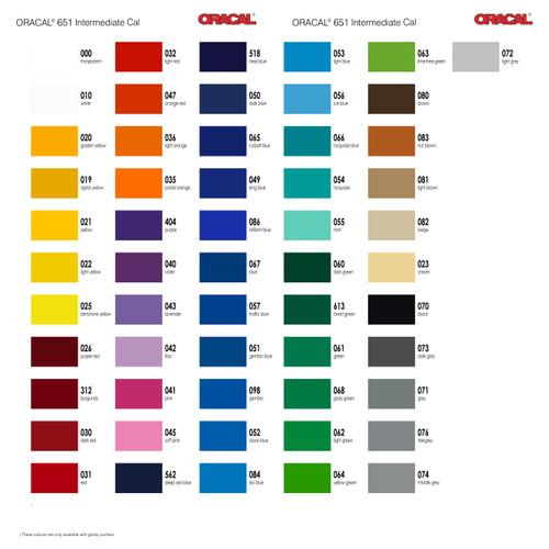 Foto Produk Jual Sticker Stiker Oracal serie 651 intermediate cal glossy dof matt - MATT/DOFF dari DISTRIBUTOR AGEN GROSIR RETAIL STIKER