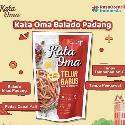 Foto Produk Kata Oma Telur Gabus Rasa Balado - 63gr dari Indonesia Mall
