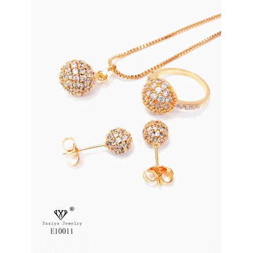 Foto Produk Set Perhiasan Yaxiya Permata Perhiasan Lapis Emas 18k 643 dari YAXIYA JEWELRY