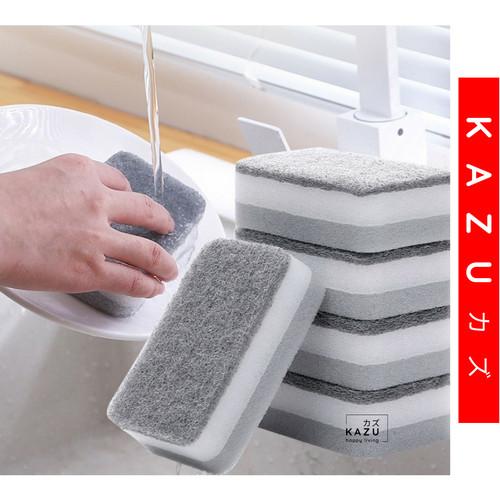 Foto Produk KAZU KHL164 Spons Cuci Piring Dua Sisi Double Magic Dishwash Sponge dari kazuindonesia