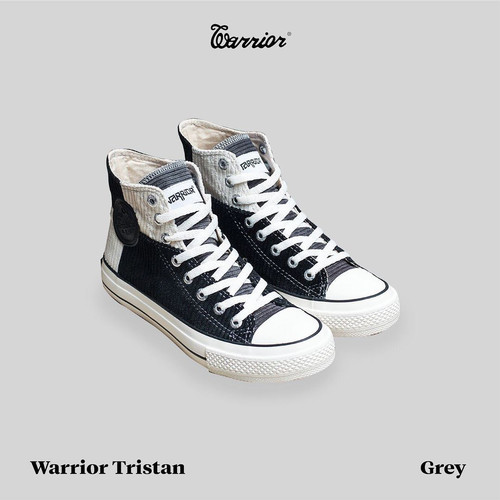 Foto Produk Sepatu Warrior Tristan High Grey (Abu) dari yk raya