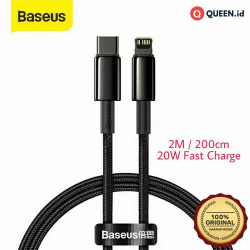 Foto Produk Baseus Kabel Data Charger 2M 20W USB TYPE C - LIGHTNING iPhone 12 PD dari QUEEN-id