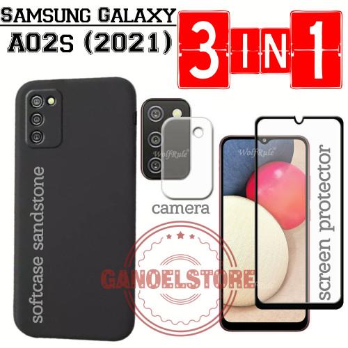 Foto Produk Case Samsung A02s (2021) Sandstone FREE Tempered Glass Layar & Kamera - Merah dari GanoelStore_