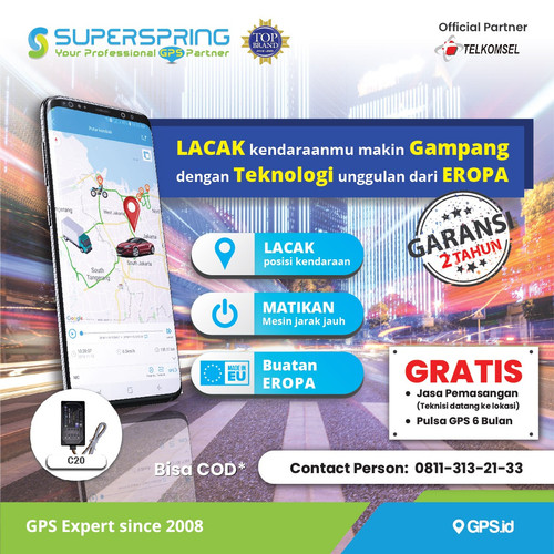 Foto Produk GPS Tracker SUPERSRPING C20 Pelacak Kendaraan SUPER SPRING C20 dari Super Spring Official