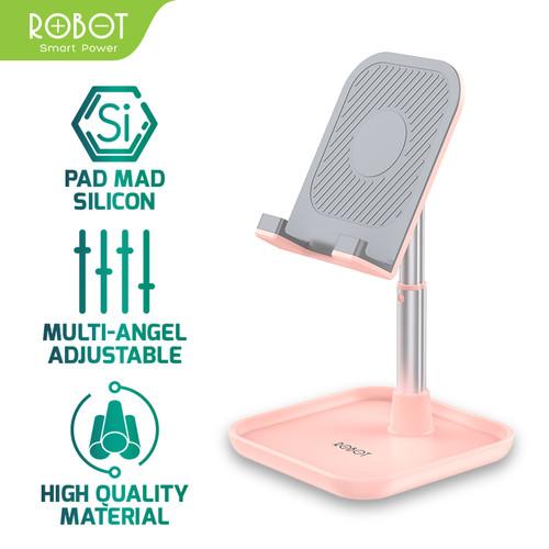 Foto Produk ROBOT Aluminium Alloy Stand for Smartphone / Tablet - RT-US04 - Merah Muda dari ROBOT OFFICIAL SHOP
