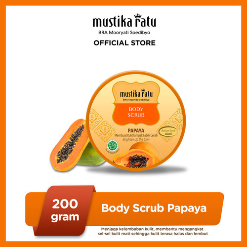 Foto Produk Mustika Ratu Body Scrub Papaya 200gr Melembabkan Kulit Alami dari Mustika Ratu
