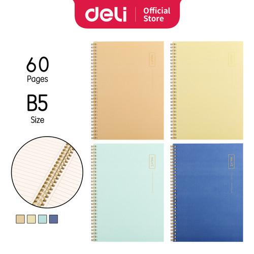 Foto Produk Deli Loose-Leaf Buku Notebook spiral B5 60 lembar LB560 - QINGSE dari Deli Stationery