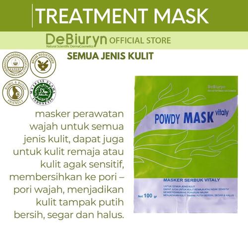 Foto Produk DeBiuryn Powdy Mask Vitaly 100gr - Masker Wajah Kulit Normal dari Debiuryn Dermacosmetics