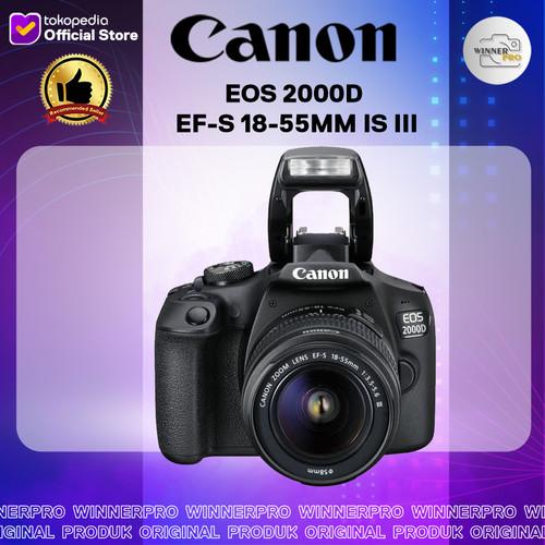 Foto Produk CANON EOS 2000D EF-S 18-55MM IS III - KAMERA CANON 2000D dari Winner Pro