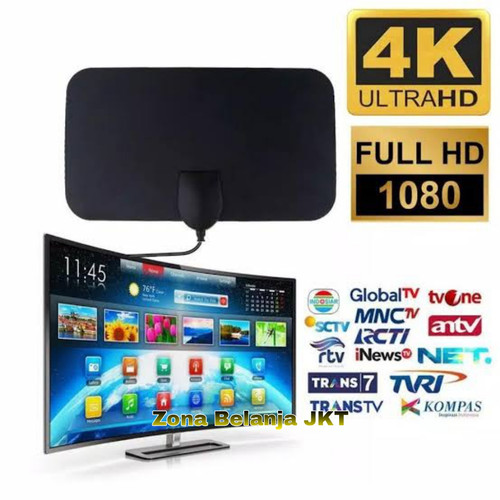 Foto Produk Antena TV Digital Indoor High Quality Penangkap Siaran Televisi - No Booster dari Zona Belanja JKT