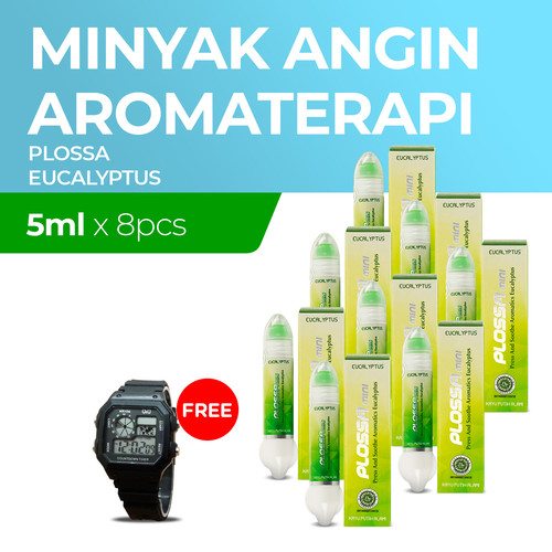 Foto Produk Plossa Mini Eucaliptus 8x5ml Free Digital Watch dari Enesis Official Store