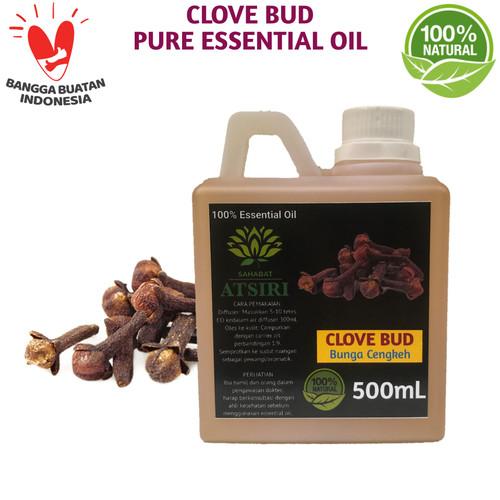 Foto Produk Clove Pure Essential Oil 500 mL│Minyak Atsiri Cengkeh Murni - Daun Cengkeh dari Sahabat Atsiri