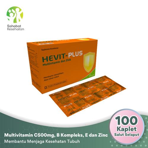 Foto Produk Hevit Plus - Multivitamin C 500 Mg, B1, B6, B12, E dan Zinc dari Sahabat Kesehatan