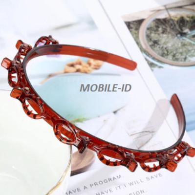 Foto Produk Termurah Korea Bando Jepit rambut fashion Double Layer Bangs Clip Head - Cokelat, Bando dari mobile-id