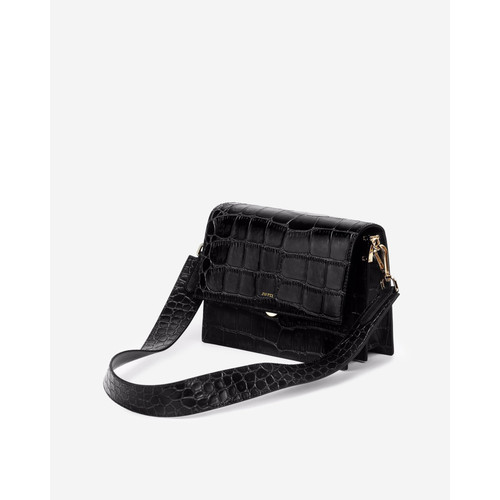 Foto Produk JW PEI Mini Flap 100% Original - Black Croc dari Eclaire Authentic